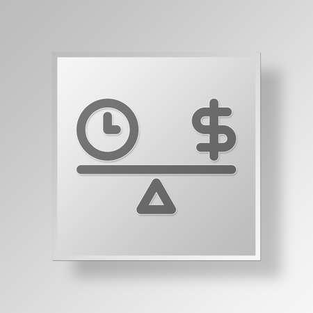 band bar: time and money Button Icon Concept No.11495 Stock Photo