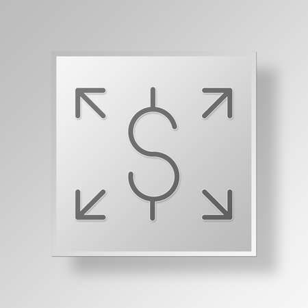 allocate: Send Funds Button Icon Concept No.12774 Stock Photo