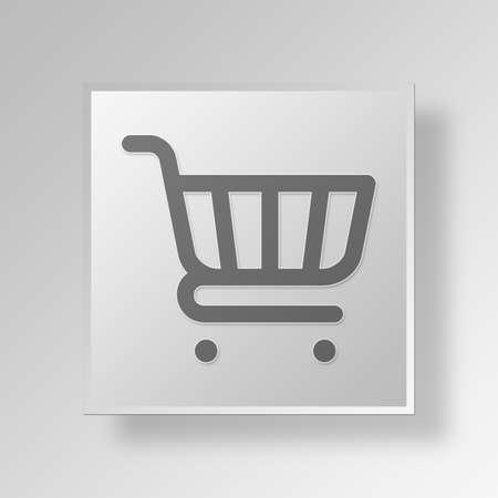 errands: Shopping Cart Button Icon Concept No.13386