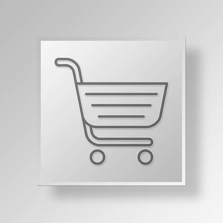 errands: Shopping Cart Button Icon Concept No.13531 Stock Photo