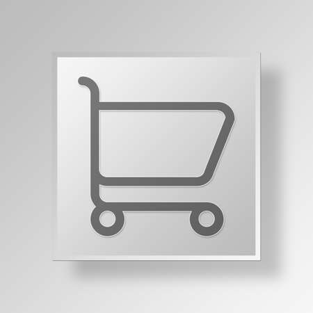 e commerce icon: Shopping Cart Button Icon Concept No.14066