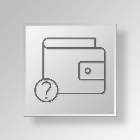 unknown wallet Button Icon Concept No.4736