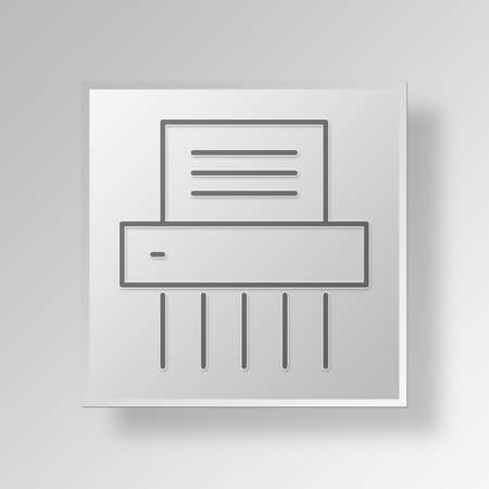 shredder: shredder Button Icon Concept No.3265 Stock Photo
