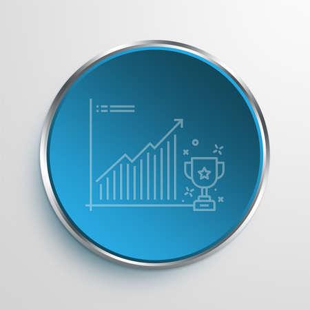 achivement: Blue Sign ACHIVEMENT Symbol icon Business Concept No.5323