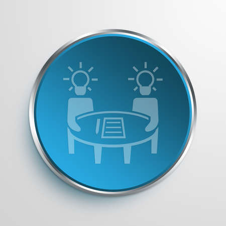 conceptions: Blue Sign brainstorming Symbol icon Business Concept No.13553
