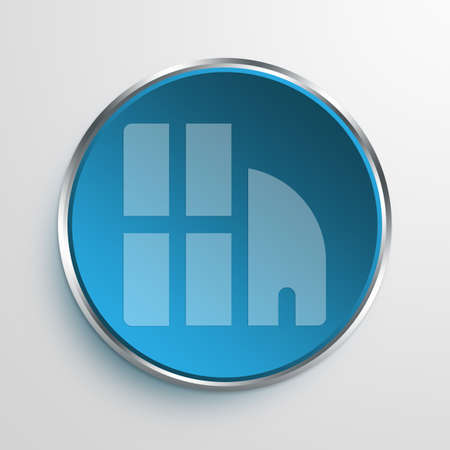 superstructure: Blue Sign buildings Symbol icon Business Concept No.11950 Stock Photo