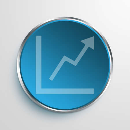exponential: Blue Sign grow Symbol icon Business Concept No.692