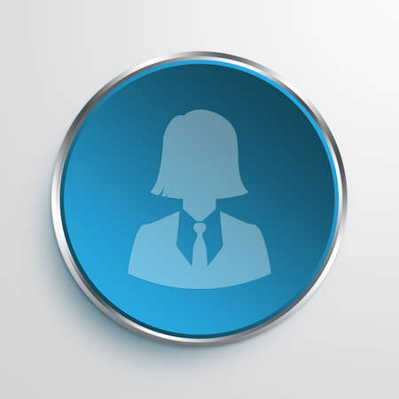 account executive: Blue Sign Business Woman Symbol icon Business Concept No.11692 Stock Photo