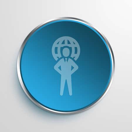 megapixel: Blue Sign International business Symbol icon Business Concept No.10529 Stock Photo