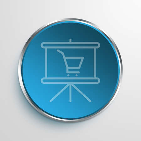 Blue Sign Buy Slides Symbol icon Business Concept No.7880