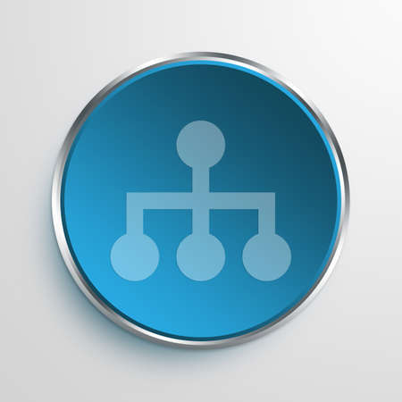 hierarchy: Blue Sign management Symbol icon Business Concept No.8567