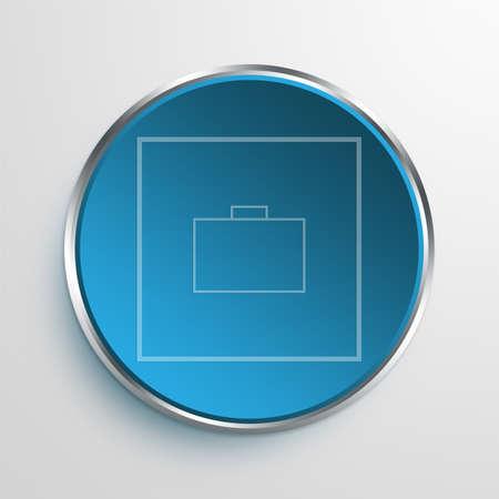 throb: Blue Sign Briefcase Symbol icon Business Concept No.9051