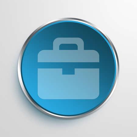Blue Sign Briefcase Symbol icon Business Concept No.9093
