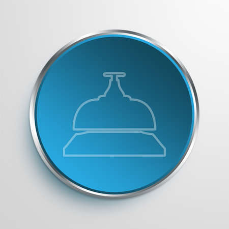knell: Blue Sign Bell Symbol icon Business Concept No.13930 Stock Photo