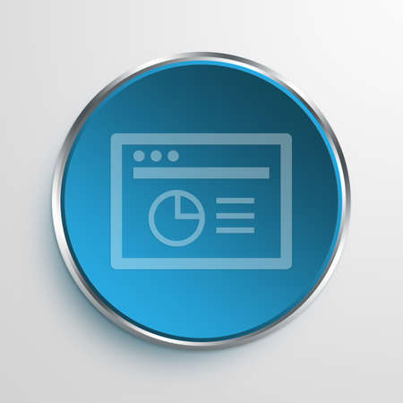 referrer: Blue Sign Browser Analytics Symbol icon Business Concept No.11599