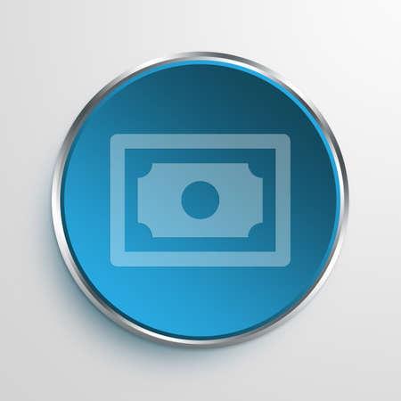 e commerce: Blue Sign Money Symbol icon Business Concept No.12416