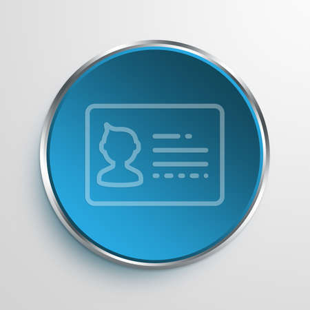 Blue Sign Card Symbol icon Business Concept No.1464 Stock Photo