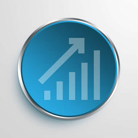 equate: Blue Sign bar chart Symbol icon Business Concept No.11913 Stock Photo