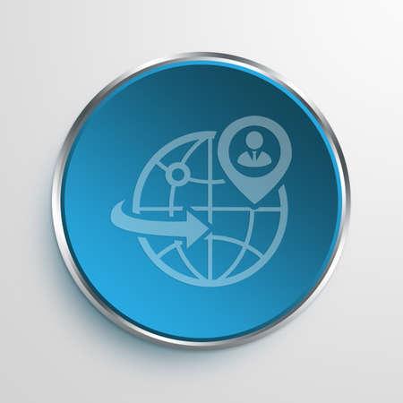 web presence internet presence: Blue Sign global business Symbol icon Business Concept No.10560