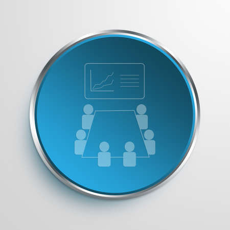 Blue Sign Meeting Symbol icon Business Concept No.11273