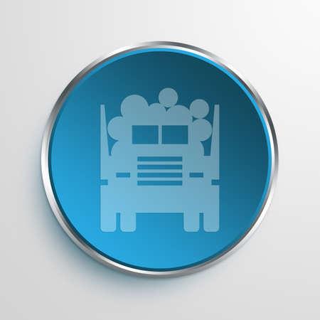 logging truck: Blue Sign Logging Truck Symbol icon Business Concept No.8698 Stock Photo