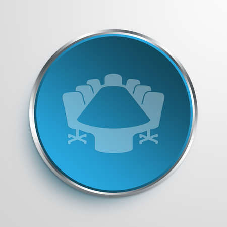 roundtable: Blue Sign conference room Symbol icon Business Concept No.13826