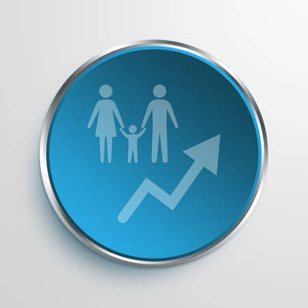 Blue Sign Population Growth Symbol icon Business Concept No.10785