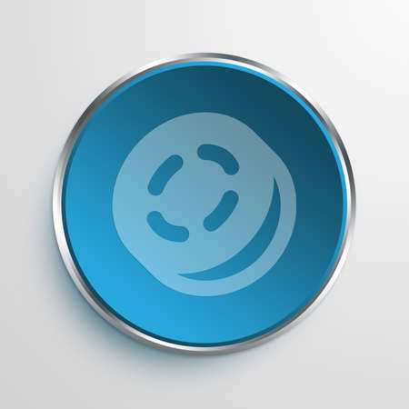 coin toss: Blue Sign coin toss Symbol icon Business Concept No.3781