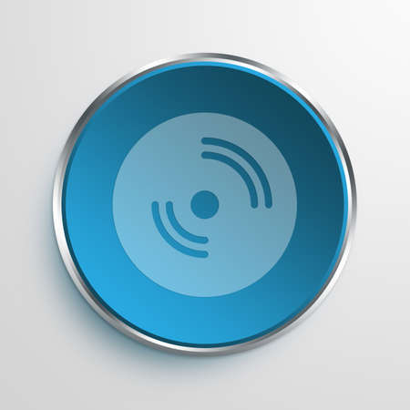 amplify: Blue Sign disc Symbol icon Business Concept No.10555
