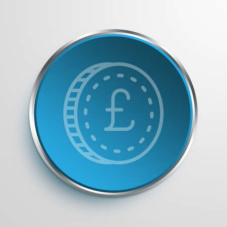 moola: Blue Sign Pound Symbol icon Business Concept No.7733 Stock Photo