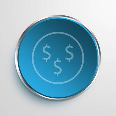 Blue Sign dollar signs Symbol icon Business Concept No.9374