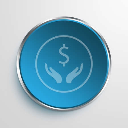 Blue Sign dollar Symbol icon Business Concept No.8938