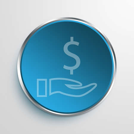 action fund: Blue Sign Donate Symbol icon Business Concept No.10772