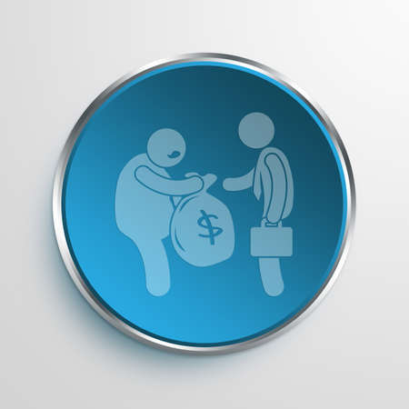 nepotism: Blue Sign Corruption Symbol icon Business Concept No.5357 Stock Photo