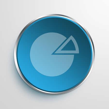 fraction: Blue Sign Pie Chart Symbol icon Business Concept No.9963
