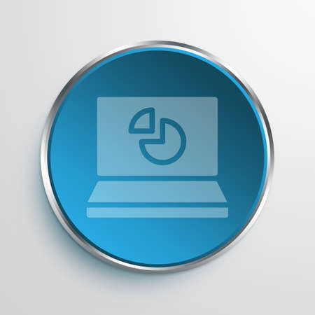 keynote: Blue Sign Pie Chart Symbol icon Business Concept No.11093