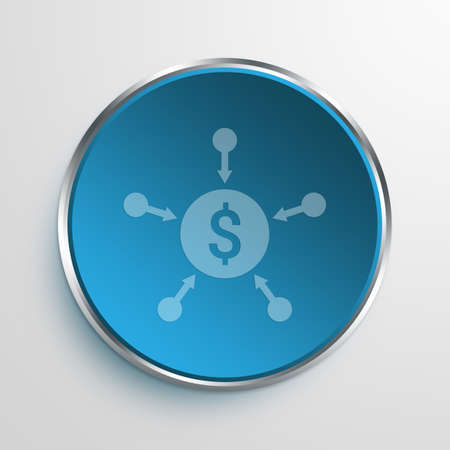 crowdsource: Blue Sign Crowdfunding Symbol icon Business Concept No.9760