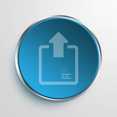 e commerce icon: Blue Sign Outbox Symbol icon Business Concept No.13027