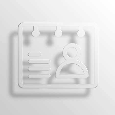 rolodex: rolodex 3D Paper Icon Symbol Business Concept No.2576