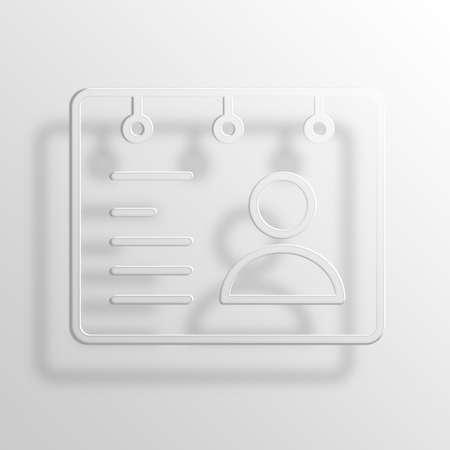 rolodex: rolodex 3D Paper Icon Symbol Business Concept No.2577