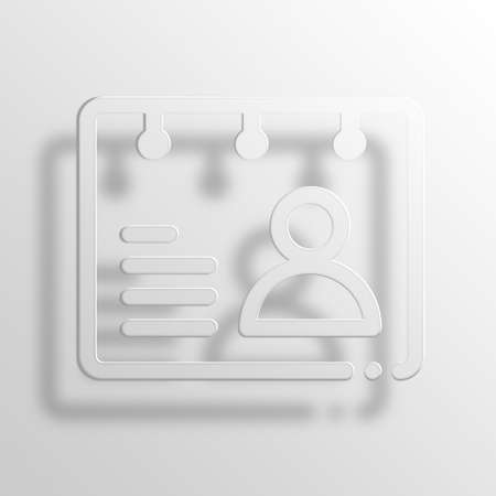 rolodex: rolodex 3D Paper Icon Symbol Business Concept No.2578