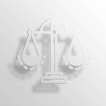 Scale 3D Paper Icon Symbol Business Concept No.10663