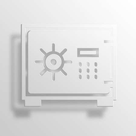 impervious: vault 3D Paper Icon Symbol Business Concept No.9047 Stock Photo
