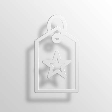 rating: Star Tag 3D Paper Icon Symbol Business Concept No.14312 Stock Photo