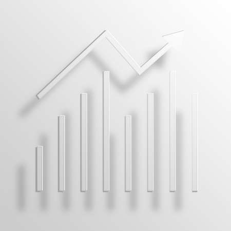 compile: statistics 3D Paper Icon Symbol Business Concept No.10510 Stock Photo