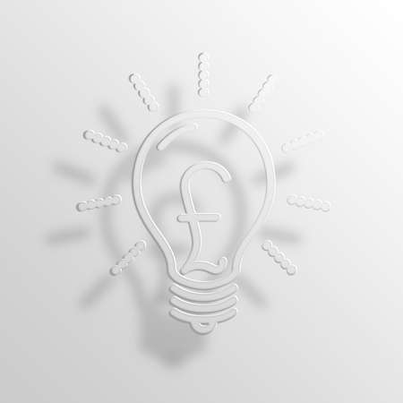 Light Bulb 3D Paper Icon Symbol Business Concept No.13881 Stock Photo