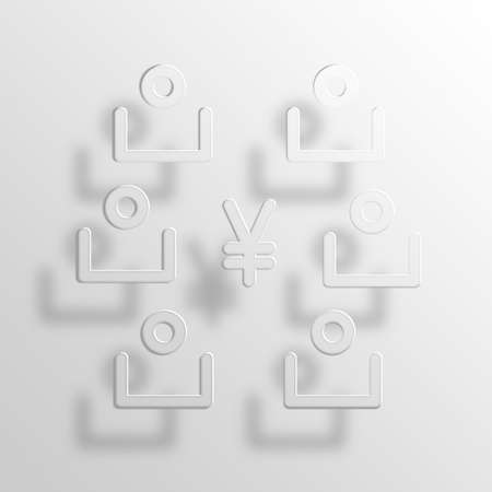 Shareholders 3D Paper Icon Symbol Business Concept No.12592