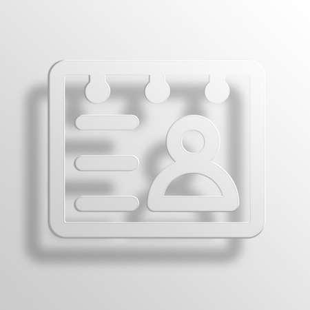 rolodex: rolodex 3D Paper Icon Symbol Business Concept No.3002