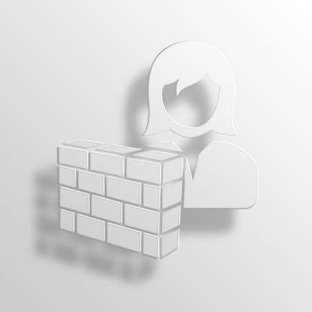 user friendly: hidden user 3D Paper Icon Symbol Business Concept No.11115 Stock Photo