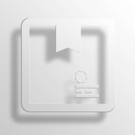 e commerce icon: Box 3D Paper Icon Symbol Business Concept No.12466